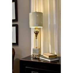 Pompadour X Table Whimsical Buffet Lamp By Lucas McKearn Black and Gold $367.50