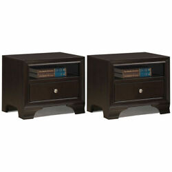2PCS Vintage Nightstand Solid Wood Sofa Side End Table W USB Port amp; Drawer $169.99