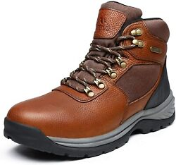 NORTIV 8 Men#x27;s Mid Ankle Waterproof Hiking Boot Military Tactical Leather Boots $41.99
