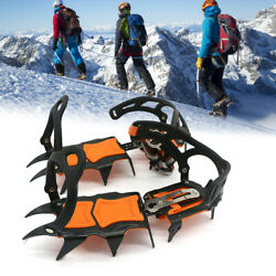 14 T eeth Ice Crampons Shoes Gripper Anti skid Ice Spikes Traction Cleat I7Z9 $53.67
