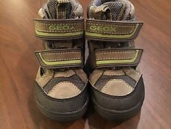 Geox Sports Respira Sneakers Brown Leather Boots Shoes Little Boys 9 $24.99