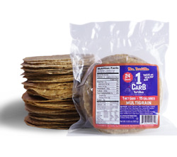 Mr. Tortilla 1g carb multigrain tortillas keto friendly low carb vegan 24 count $13.99