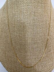 "14k Solid Yellow Gold Box Chain 18"" Necklace .5mm 1020 $69.99"