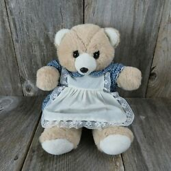 Vintage Bear Plush Stuffed Animal Muffin Family Girl Blue Dress Eyelashes 17quot; $61.99