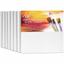 Stretched Canvas Panels 12quot; x 12quot; Artist Canvas Boards for Painting 8 Pack $26.99