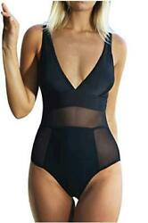 CUPSHE Women's Sexy Mesh One Piece Swimsuit Beach Multi Color Size Large Xs3F $13.99
