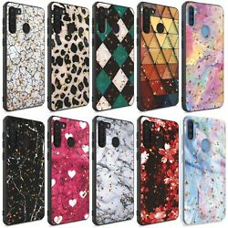 For Samsung Galaxy A21 Case Glitter Shockproof CoverTempered Glass Protector $10.29