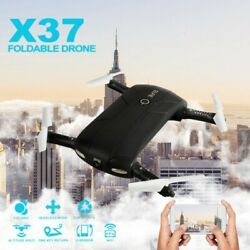 Mini Drone RC WIFI FPV With Camera LED Foldable Arm RC Quadcopter Toy Gift Black $15.22