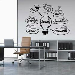 Success Office Wall Sticker Wall Decoration Removable Quotes Decal $9.90