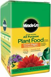Miracle Gro All Purpose Plant Food Grow Flowers Vegetable Fertilizer Garden 8oz $6.50