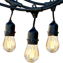 Brightech Pro Edison Black LED Waterproof Outdoor String Lights 48 Ft. Used