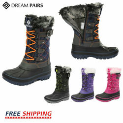 DREAM PAIRS Kids Boys Girls Insulated Waterproof Fur Lined Snow Boots Ski Boots $25.72