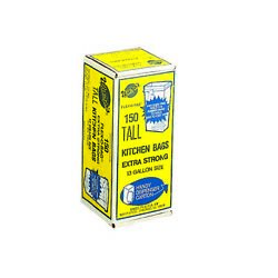 Tall Kitchen Bags 1.25 mil. 13 gal 150 ct. FB13 150 1 Each $23.03