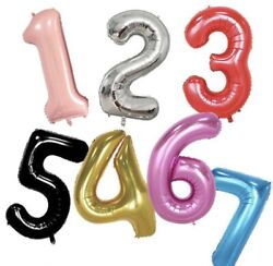 XLarge Foil Balloon Numbers 40 inch Wedding Celebration Party Decor Float 40quot; 1m $4.59