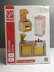 New Hape Wooden Modern Kitchen #3453 Stove RefigeratorSink Dollhouse Furniture $20.00
