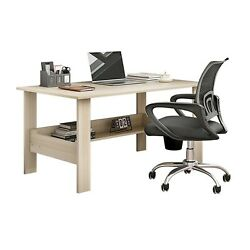 Wooden Modern Computer Desk Home Office Table Study Workstation Writing w Shelf $58.65