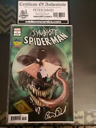 Symbiote Spider Man #1 Midtown Comic Variant Signed By Peter Davis COA $15.00