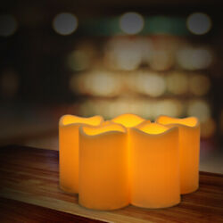 3 Pack Flickering Resin Pillar LED Candle Lights with 6 Hour Timer for Party $11.39