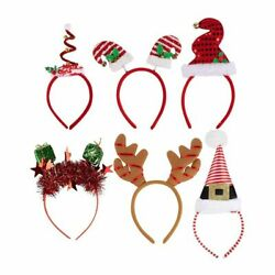 6 Pack Christmas Headbands Holiday Party Accessories Photo booth Props For Adult $11.99