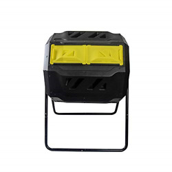 EJWOX Large Composting Tumbler Dual Rotating Outdoor Garden Compost Bin Easy $162.16