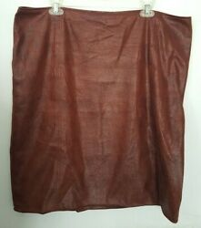 Chicos Faux Snakeskin Brown Skirt Size 3 $15.49