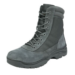 Mens Tactical Duty Boots Army Military Leather Motorcycle Combat Hiking Boots $46.95