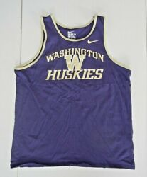 Nike WASHINGTON HUSKIES UW Football COLLEGE TANK TOP Summer Gym Shirt Men#x27;s XL