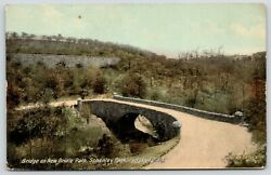 Pittsburgh PA Schenley Park Stone Arch Bridge on New Bridle Path Wall Above 1912 $5.60