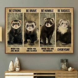 Strong When You Are Weak Ferret Poster Vintage Home Decor Modern Home Decor $16.99
