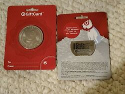 Target Silver Coin Bullseye Dog Gift Card USA Bulls Eye $3.49