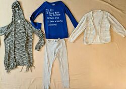 Girls Size 10 12 Clothing Lot: Sweatshirt Cardigans amp; Leggings 1N $12.99