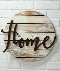Home Embellished Wall Art Plaque Sign Farmhouse Country Rustic Decor $18.87