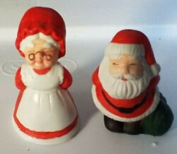 Vintage Mr And Mrs Santa Claus Salt And Pepper Shakers $15.00