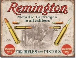 Remington for Rifles and pistols Metal tin sign hunting gun home Wall decor new $15.99