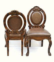 Pair 2 Bamboo Asian Mid Century Style Side Chairs Armchair Dining Modern Vintage $349.00
