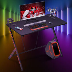 42.5quot; Ergonomic Gaming Desk E Sports Gamer PC Laptop Computer Table Home Office $95.99