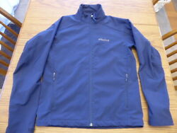 Marmot Soft Shell Navy Blue Jacket Mens Small Outdoor Technical Rugged Excellent $42.74