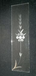Vintage Etched Chandelier Crystal replacement panel. 11 x 3quot; $7.00