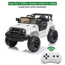 12V Kids Ride On Car Truck Toy Music LED Light Seat Belt 3 Speed Remote Control $129.79