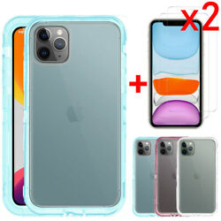 For iPhone 11 Pro Max XS Max Case Shockproof Clear Crystal CoverTempered Glass $8.39