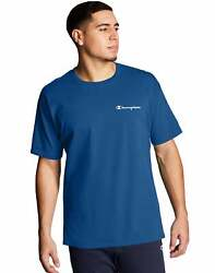 Mens Champion T Shirt Classic Jersey Tee Script Logo Short Sleeve Classic Cotton $13.25