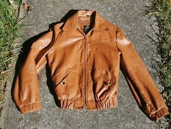 Cooper NYC Vintage Leather Motorcycle Biker Jacket Made in USA Size S $69.99