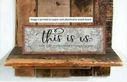 Rustic Wood Sign This Is Us Our Life Farmhouse Retro Vintage Decor PRINT $14.99