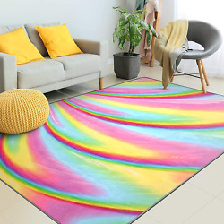Kids Rugs for Girls Bedroom Kids Rainbow Area Rugs Carpet with Non Slip and for $56.98