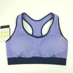 Champion Sports Bra sz S Duo Dry Blue Orchid Racerback Seamless Pullover N9841 $11.99