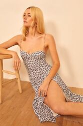 Reformation Juliette High Slit Dress Bombay Size 4 Nordstrom Exclusive $159.00