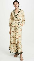 NWT Rhode Resort Lena Wrap Dress in Meadow size XS $169.00