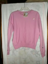 Champion Women#x27;s Reverse Weave Crew Size Small Paper Orchid NWT#x27;S $17.99