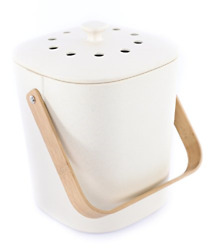 Bamboozle Food Composter Indoor Food Compost Bin for Kitchen Natural $48.89