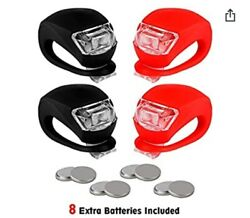 REFUN Bicycle Light Front and Rear Silicone LED Bike Light Set 4 Pack $8.49